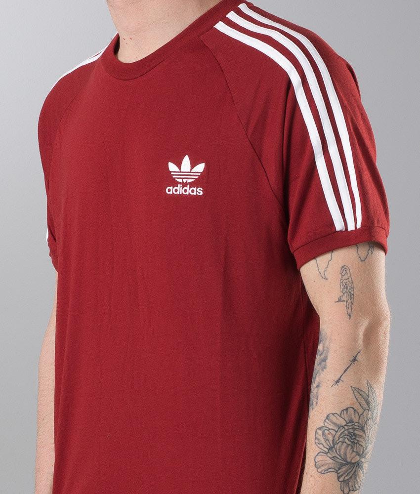 d41067cd184a Adidas Originals 3-Stripes T-shirt Rust Red - Ridestore.com