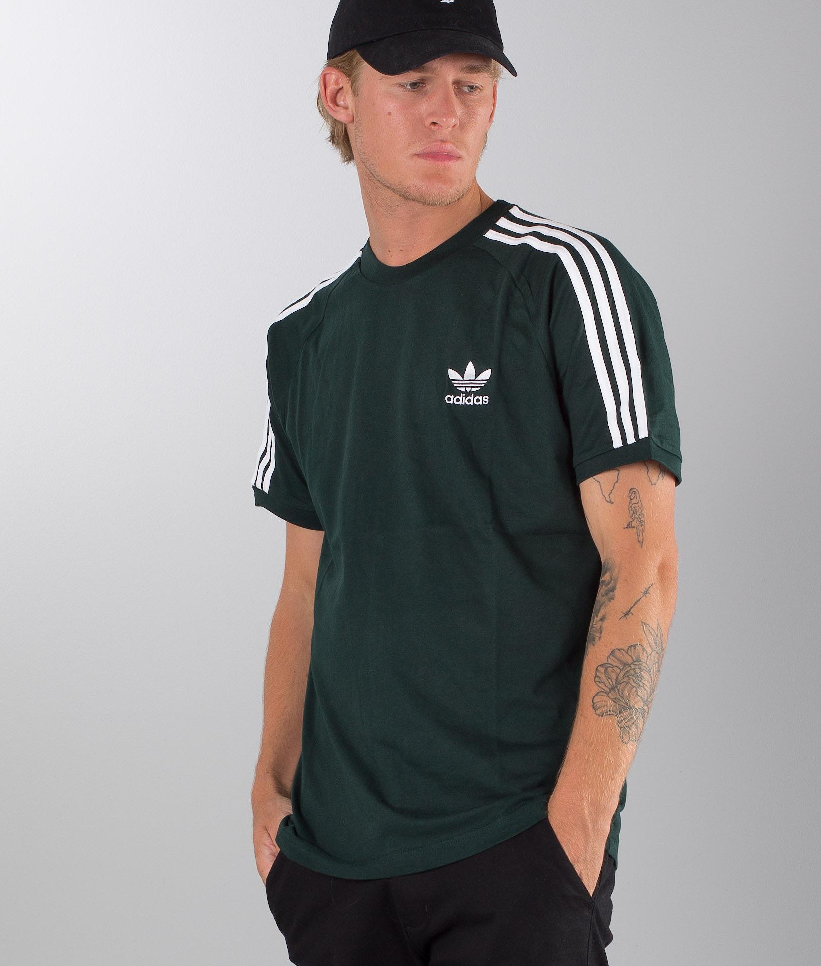 64122f7f269 Adidas Originals 3-Stripes T-shirt Green Night - Ridestore.com