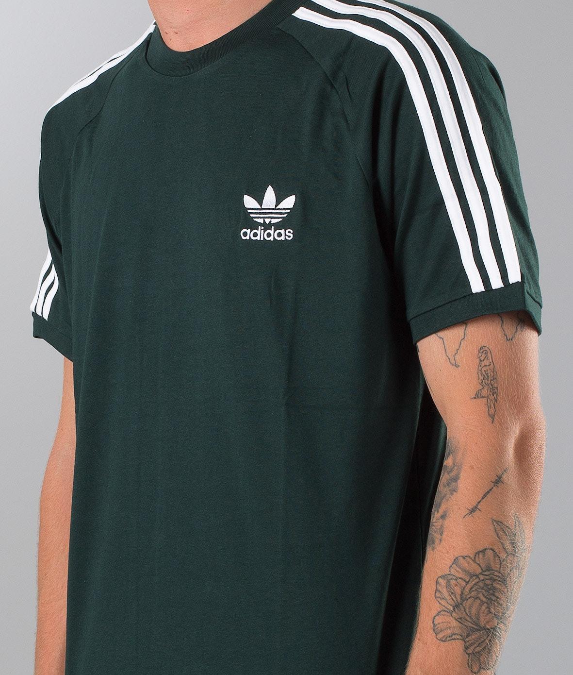 Adidas Originals 3-Stripes T-shirt Green Night - Ridestore.com 95600a0a4e28