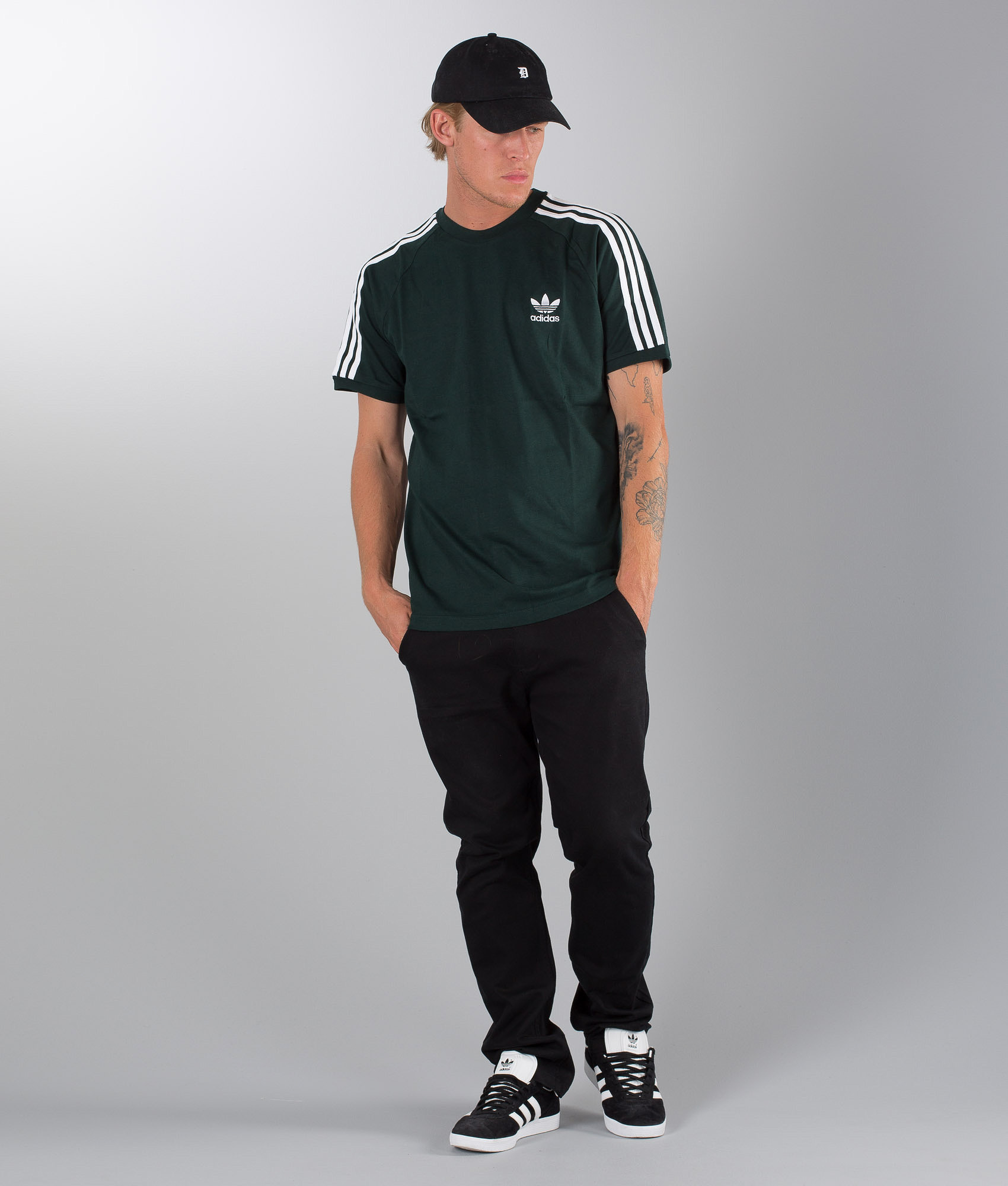 Adidas Originals 3-Stripes T-shirt Green Night - Ridestore.com bfcb46e638