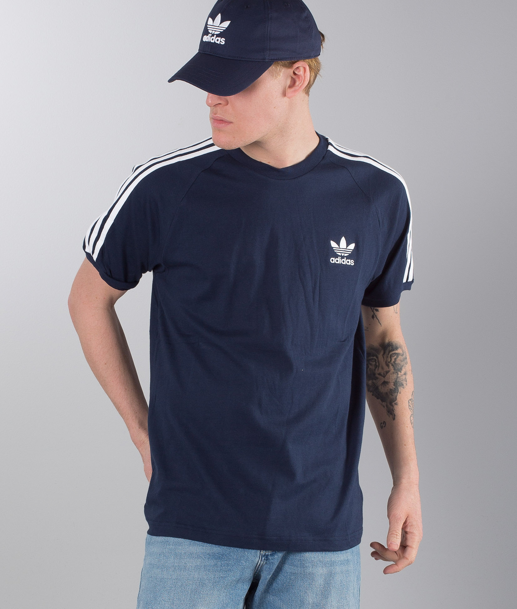 8f2f56f26d7 Adidas Originals 3-Stripes T-shirt Collegiate Navy - Ridestore.com