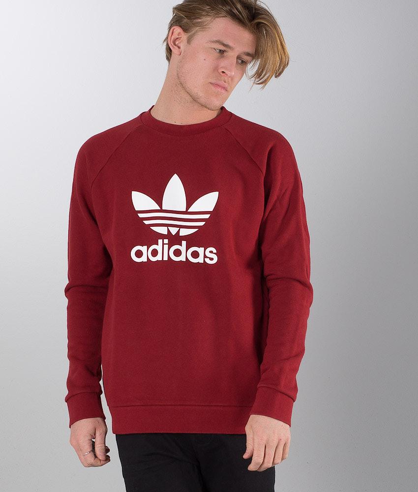 abef4e98d049ce Adidas Originals Trefoil Sweater Rust Red - Ridestore.com