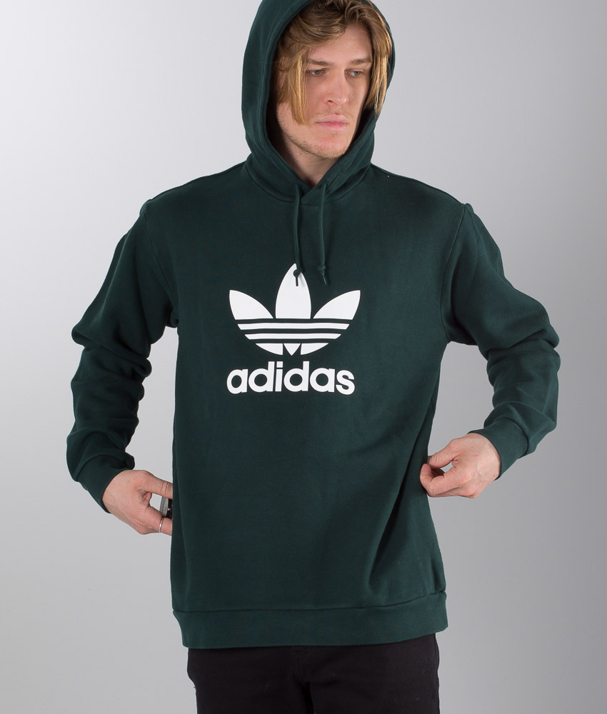 Adidas Originals Trefoil Hoodie Green Night