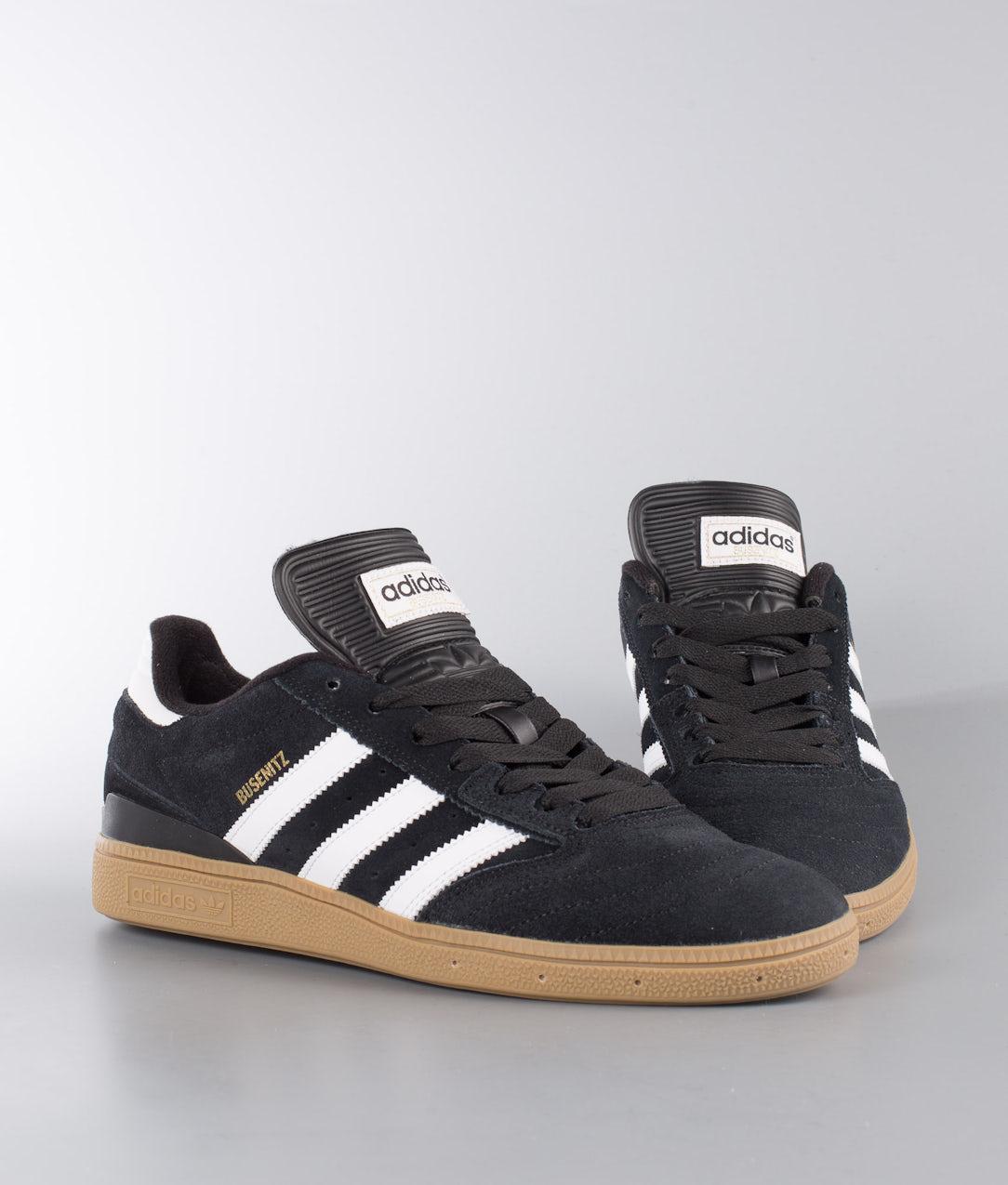Adidas Skateboarding Busenitz Shoes Black1/Running White/Metallic Gold