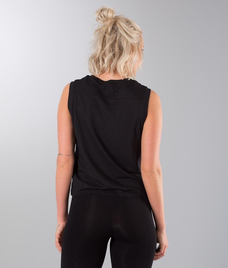 Vans Muscle V T-shirt Dame Black