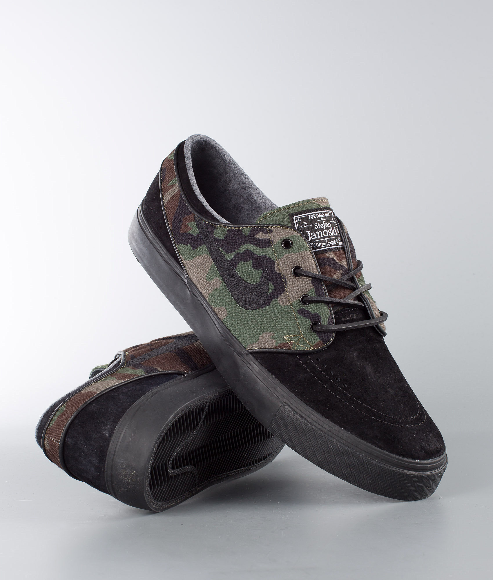 2a569a442 Nike Zoom Stefan Janoski OG Shoes Black Black-Medium Olive-White ...
