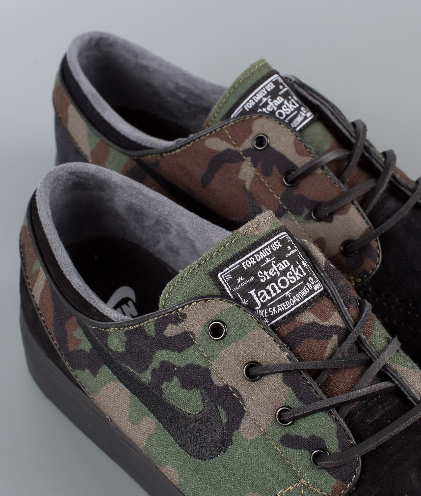 2cce48a295f62 Nike Zoom Stefan Janoski OG Shoes Black Black-Medium Olive-White ...