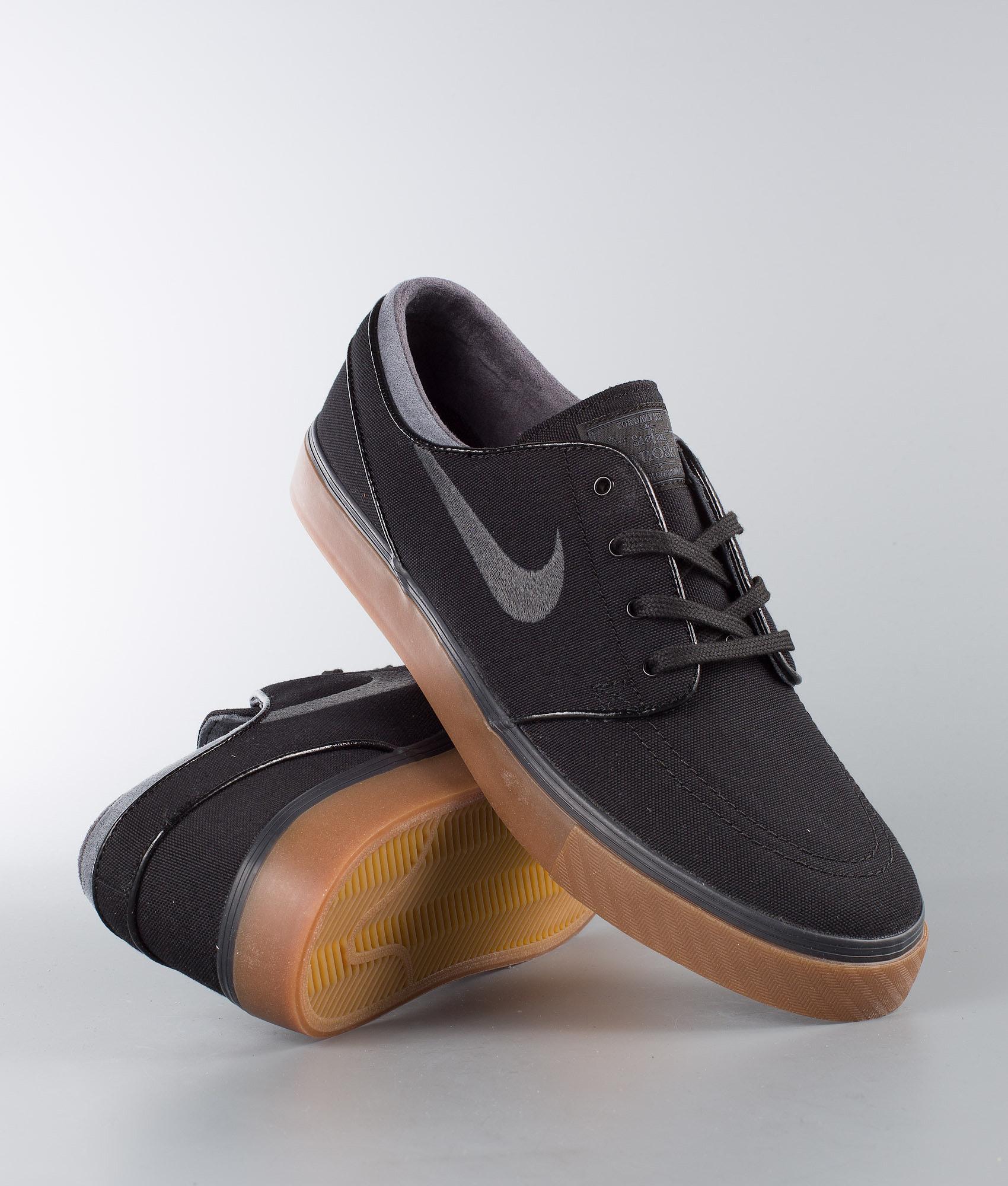 c9c55fa1b2e827 Nike Zoom Stefan Janoski Cnvs Shoes Black Anthracite-Gum Med Brown ...