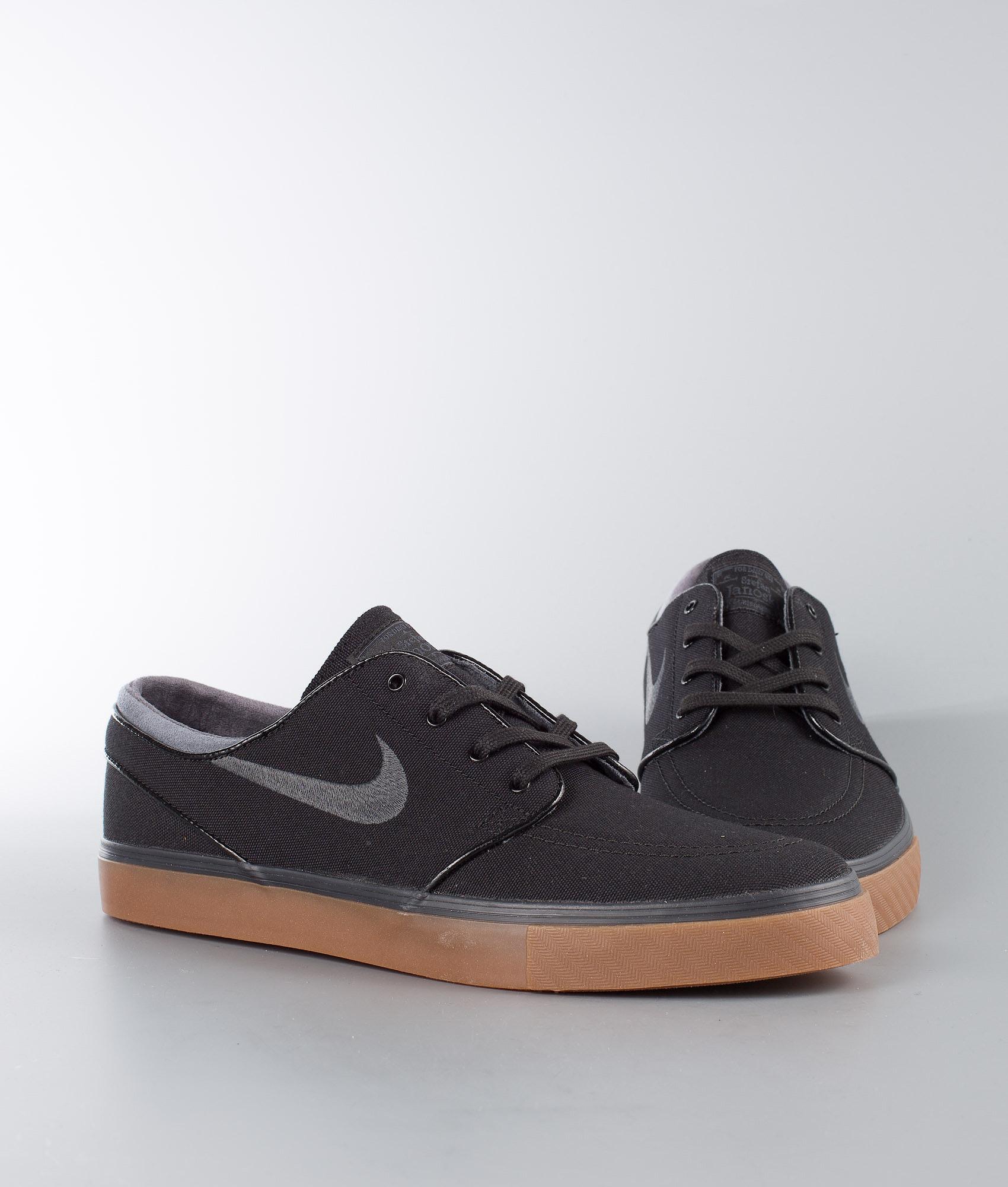 e49a27dc1b0 Nike Zoom Stefan Janoski Cnvs Shoes Black Anthracite-Gum Med Brown ...