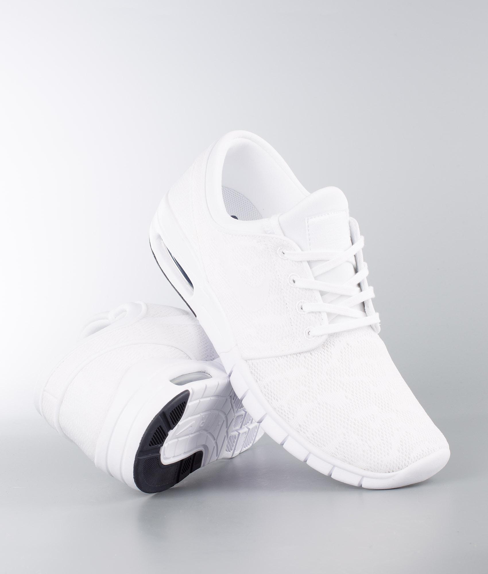 Nike Stefan Janoski Max Shoes White White-Obsidian - Ridestore.com 6d2344c2aeba