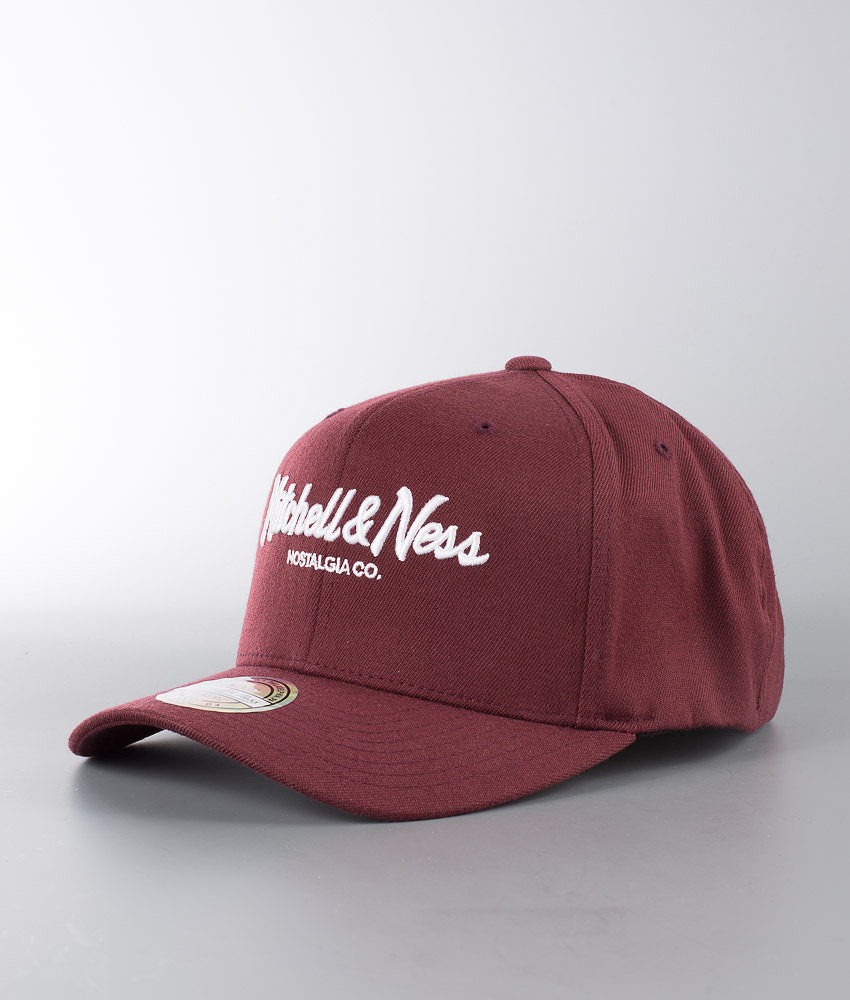 Mitchell and Ness Pinscript 110 Cap Maroon