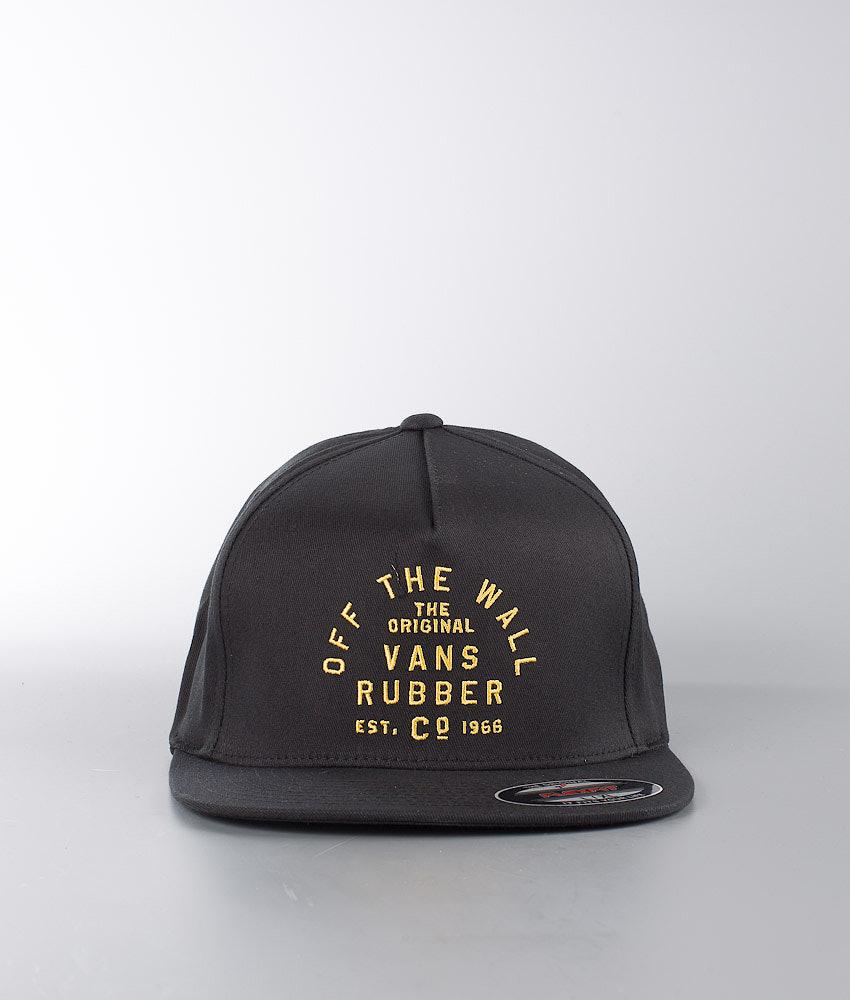45610d8f304 Vans Stacked Rubber Flexfit Cap Black - Ridestore.com