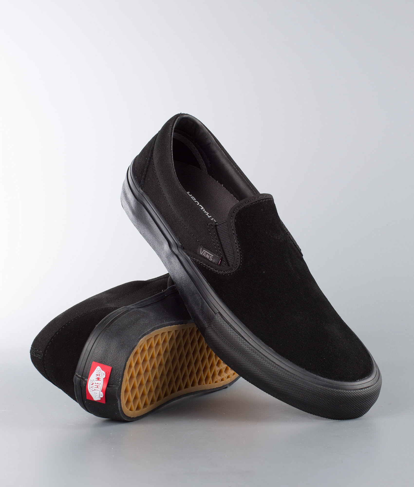 1e26b4e8f64e7f Vans Slip-On Pro Shoes Blackout - Ridestore.com