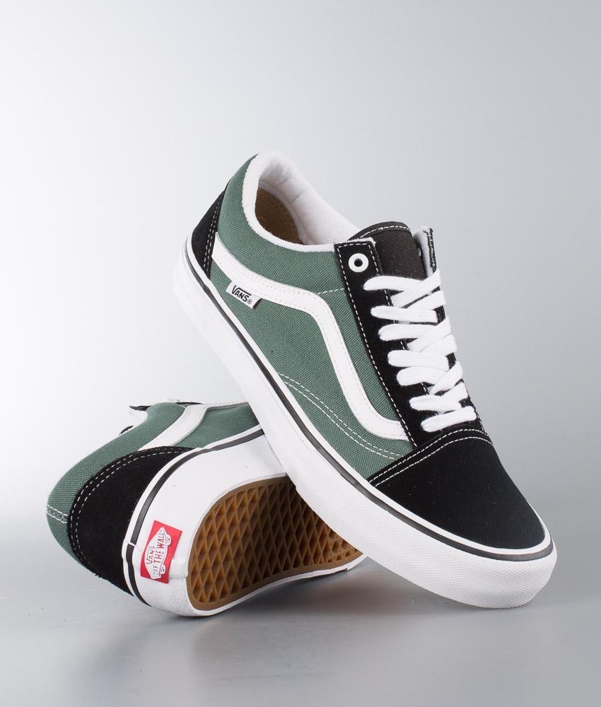 Vans Old Skool Pro Shoes Black/Duck Green