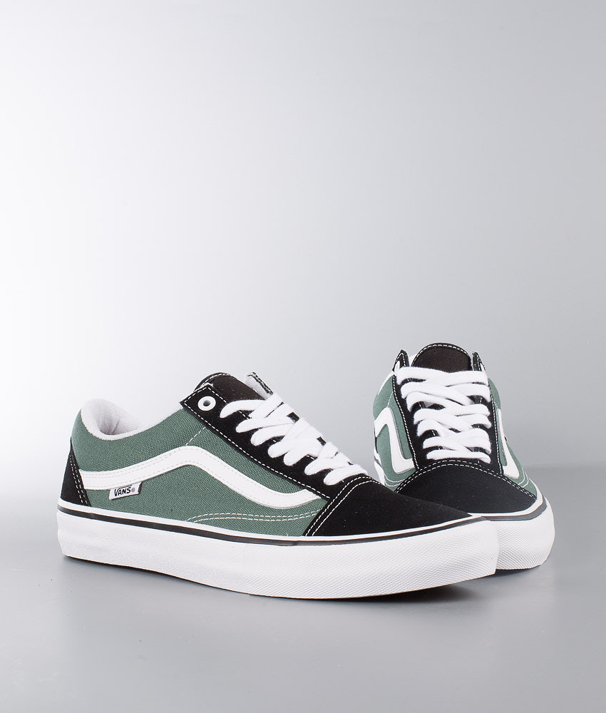 424afb521b9e58 Vans Old Skool Pro Shoes Black Duck Green - Ridestore.com