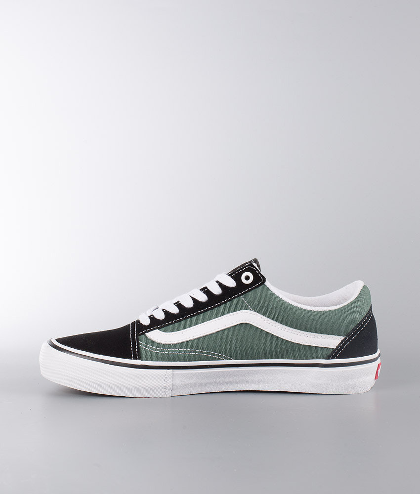 497cbdd7fa12 Vans Old Skool Pro Shoes Black Duck Green - Ridestore.com