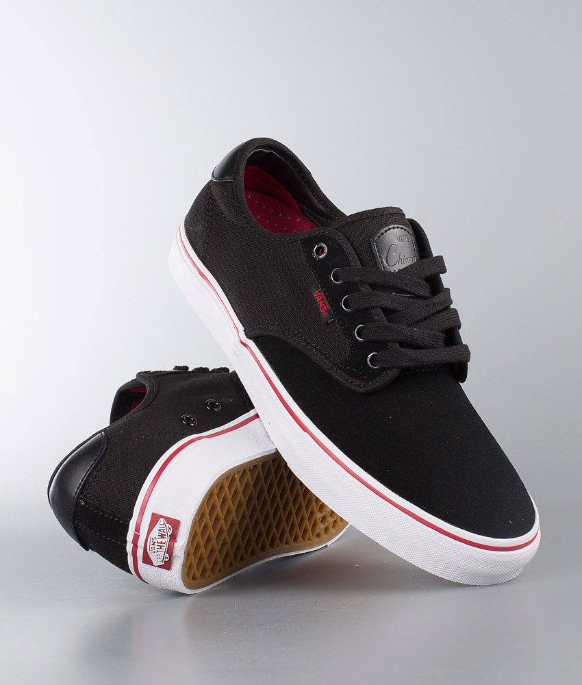 05286dfc725881 Vans Chima Ferguson Pro Shoes Black White Chili Pepper - Ridestore.com