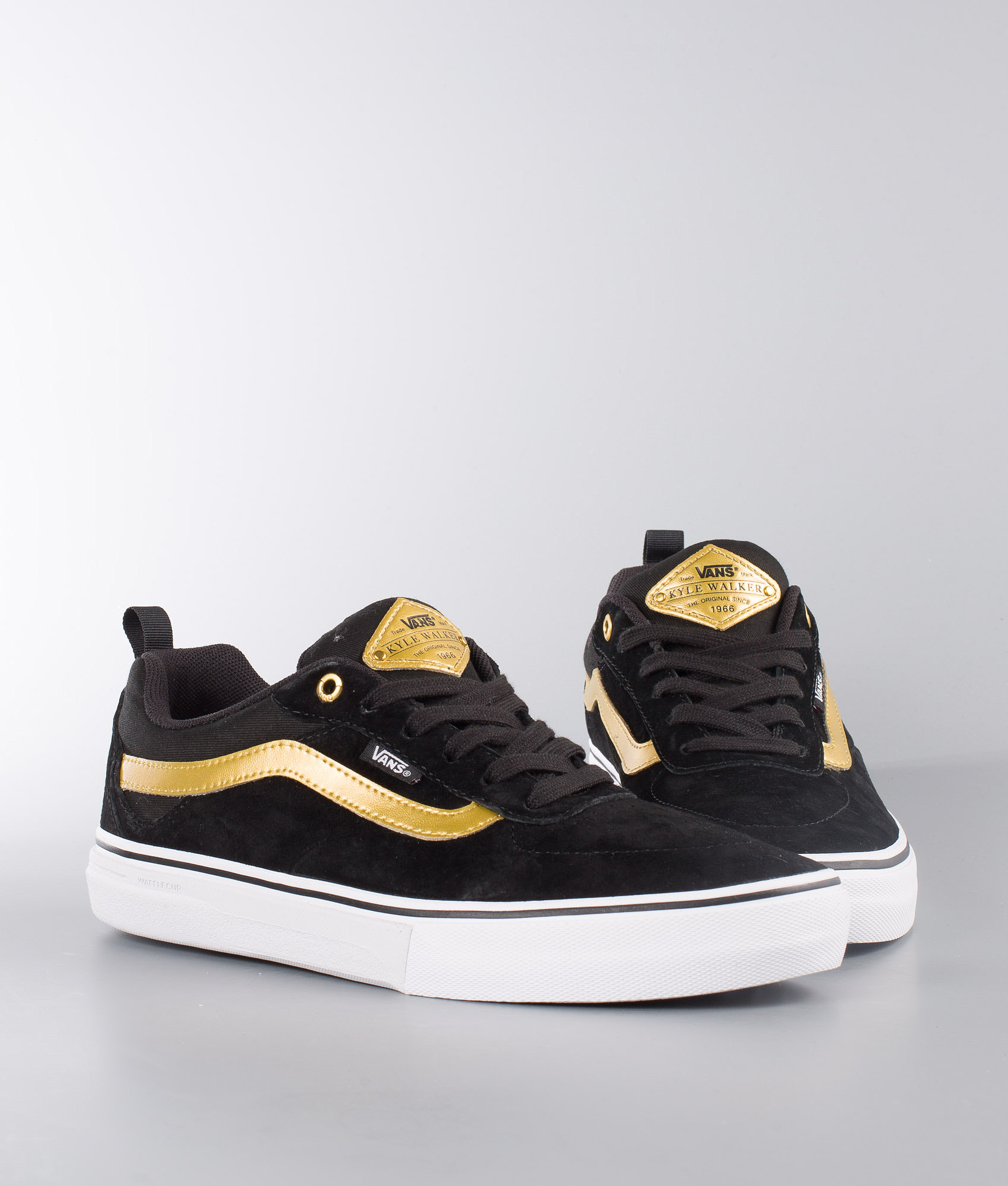 7635ad300036 Vans Kyle Walker Pro Shoes Black Metallic Gold - Ridestore.com
