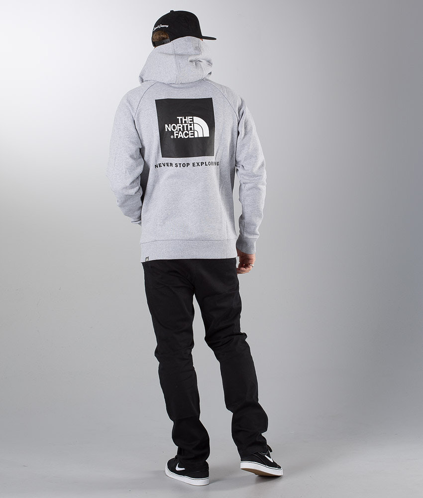 The North Face Raglan Red Box Hood Tnf Lht Grey - Ridestore.com c8b496d0c92f