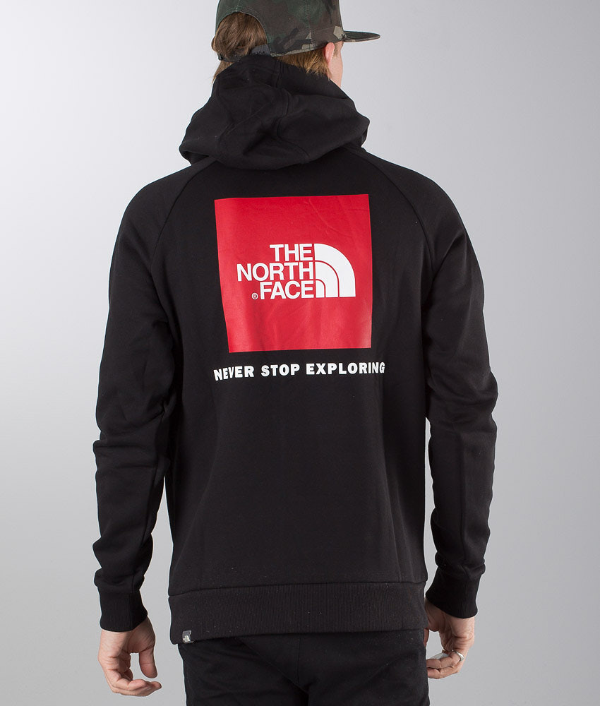 ecdfe9495 The North Face Raglan Red Box Hoodie Black