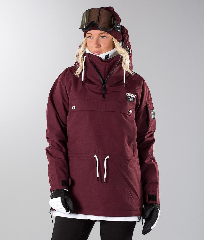 Dope Annok 19 Snowboard Jacket Burgundy