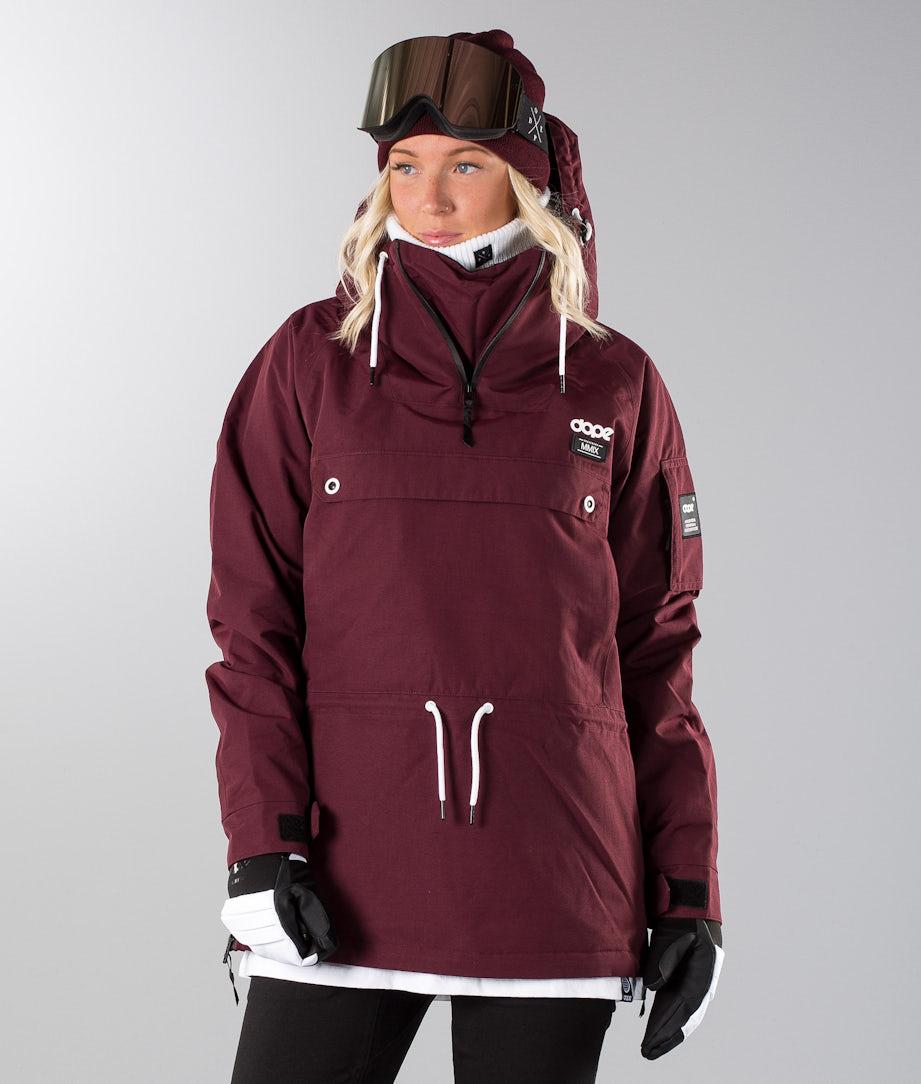 Dope Annok W 18 Snowboard Jacket Burgundy