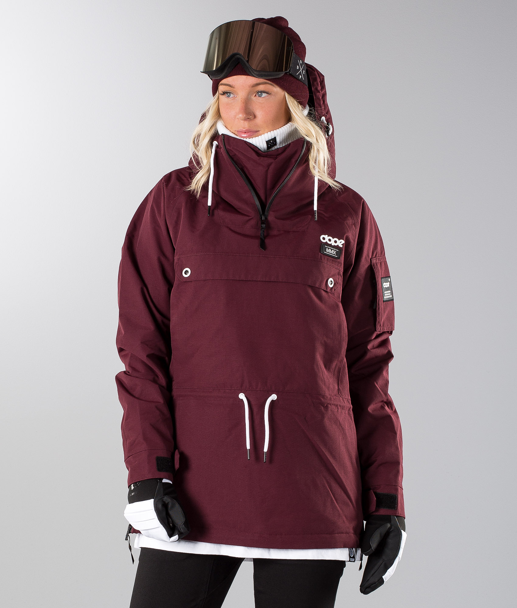 Dope Annok W Snowboard Jacket Burgundy - Ridestore.com 2b964db0dc98
