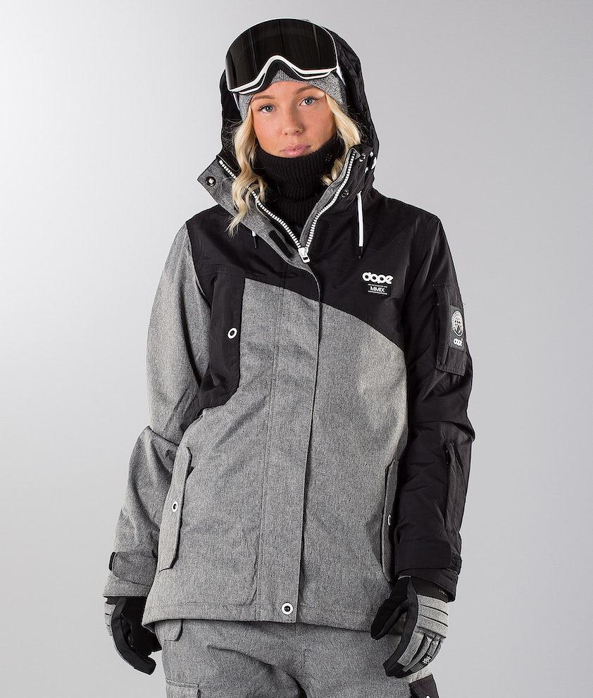 Dope Adept W 18 Snowboardjacka Black/Grey Melange