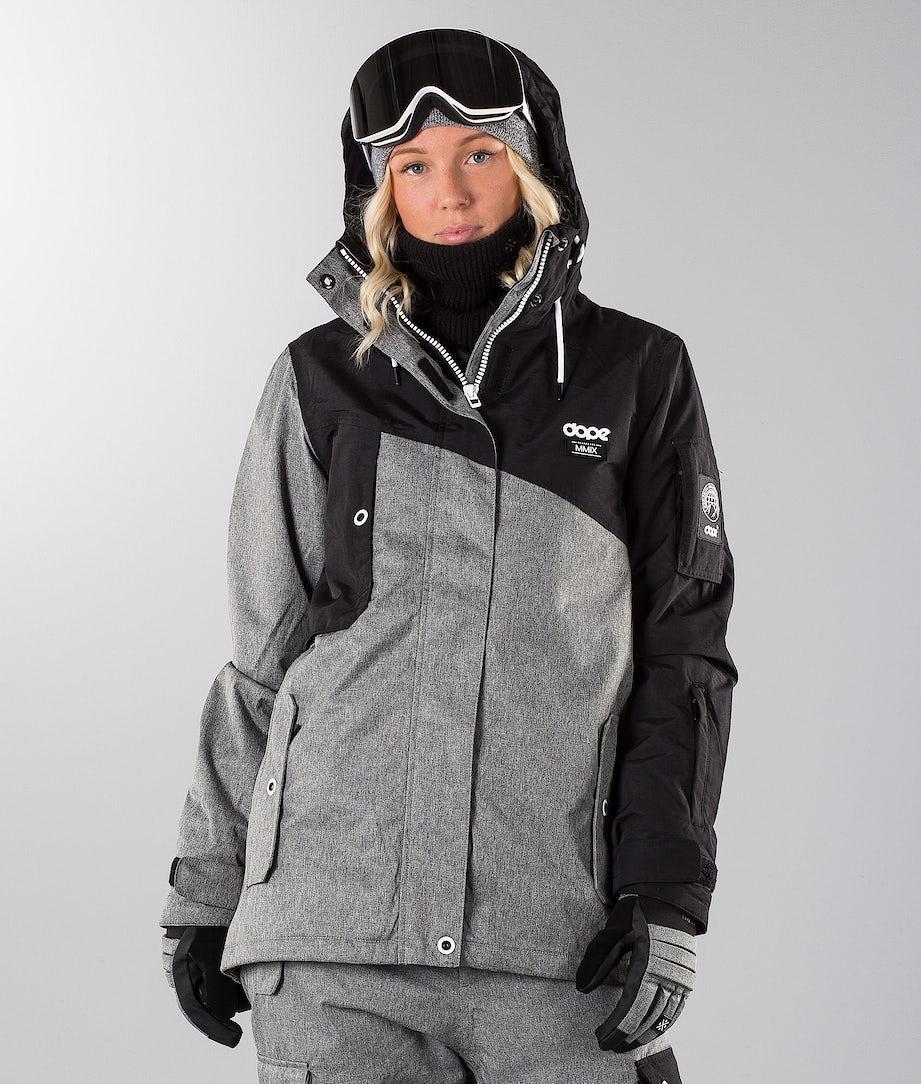 Dope Adept W 19 Snowboard Jacket Black/Grey Melange