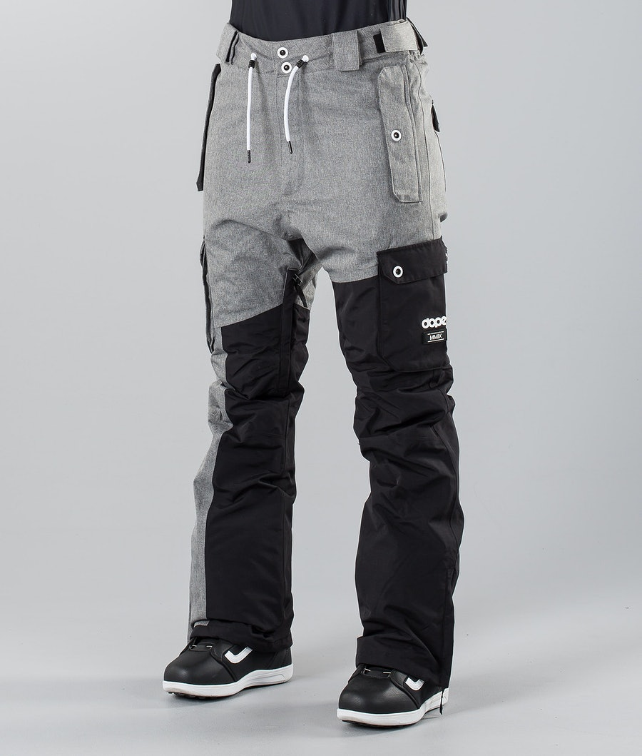 Dope Adept W 18 Snowboardbyxa Black/Grey Melange
