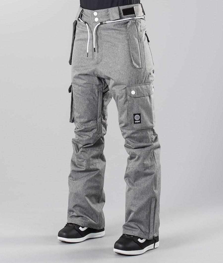 Dope Iconic W 18 Snowboardbyxa Grey Melange