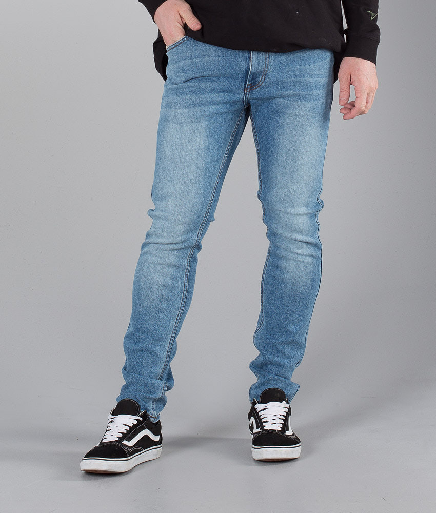 Dr Denim Clark Bukser Shaded Mid Blue