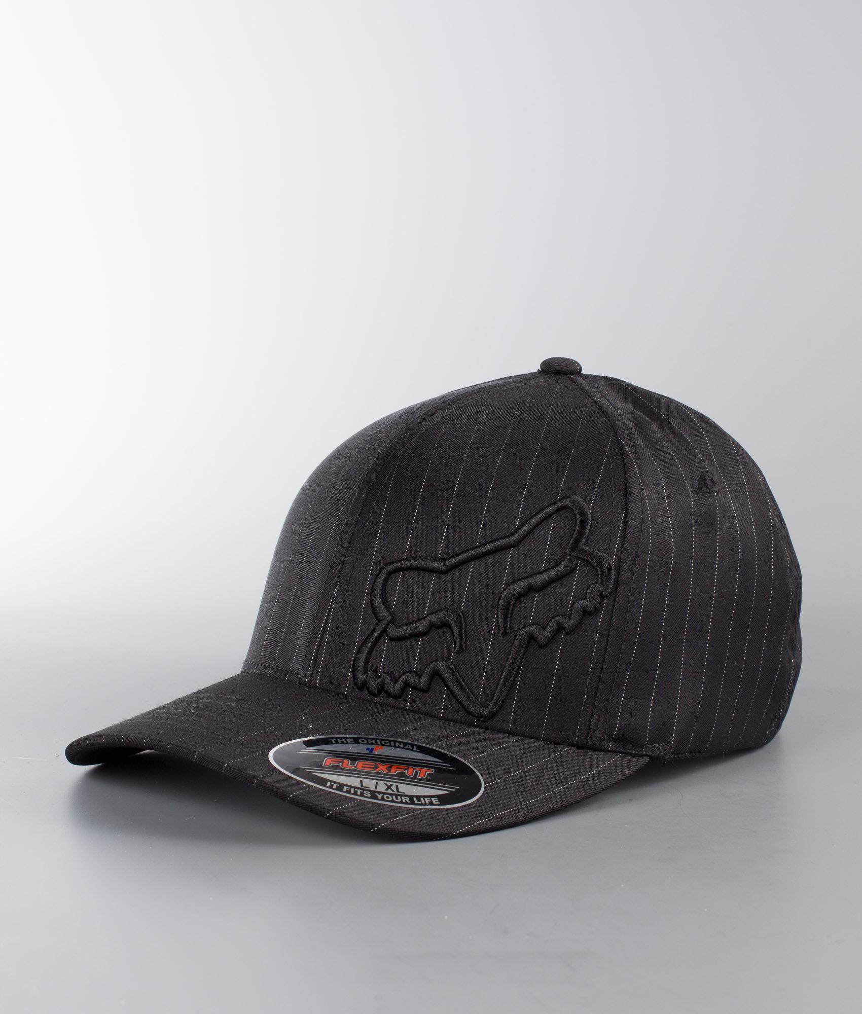 3fac82a9915 Fox Flex 45 Cap Black Pinstripe - Ridestore.com