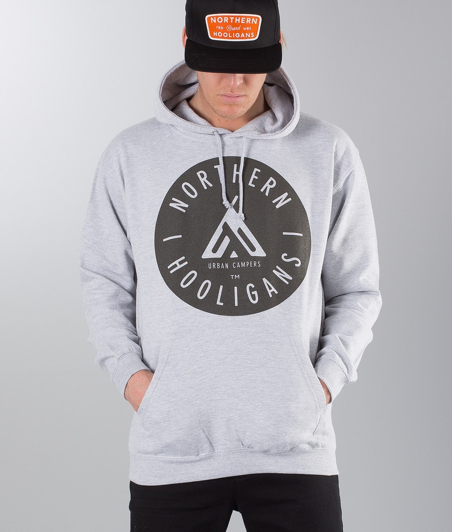 Northern Hooligans Urban Campers Felpa con Cappuccio Heather Grey