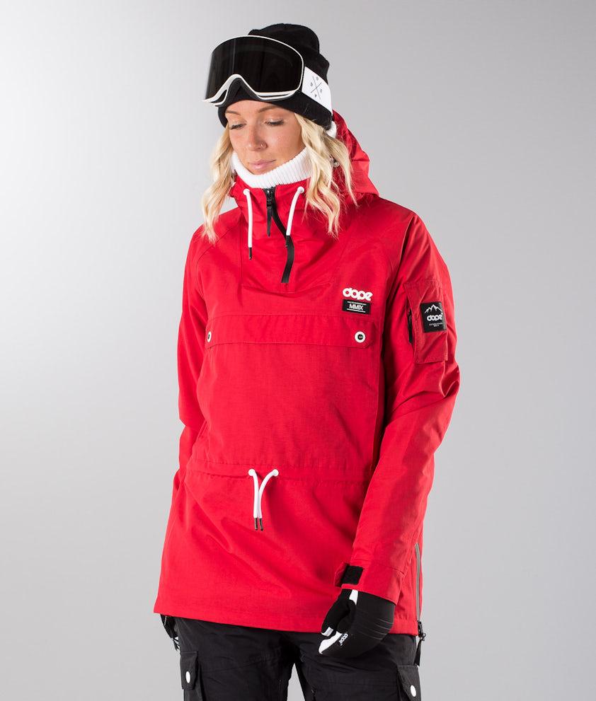 Dope Annok W 18 Snowboard Jacket Red