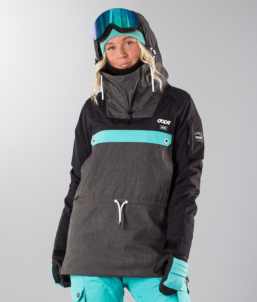 Dope Annok W 18 Snowboardjacka Dark Grey/Black/Azure