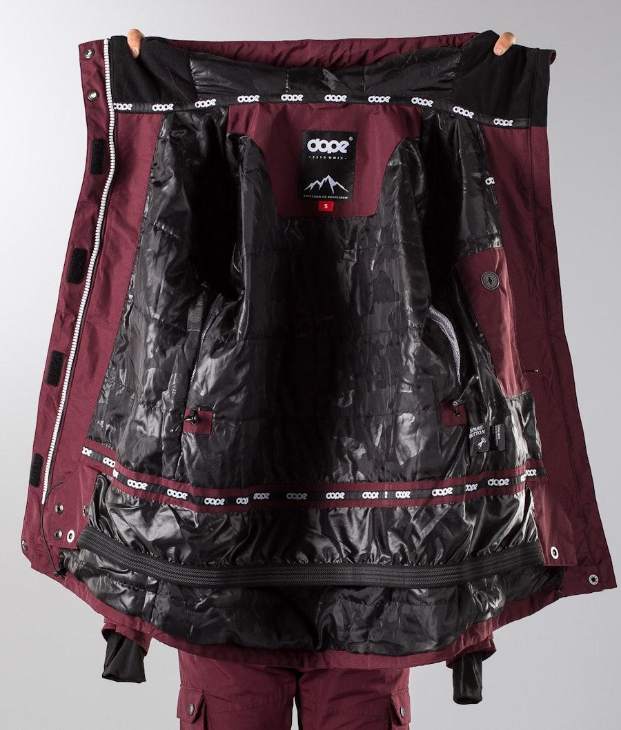Dope Adept W 18 Women's Snowboard Jacket Burgundy