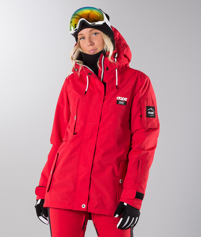 Dope Adept W 18 Snowboard Jacket Red