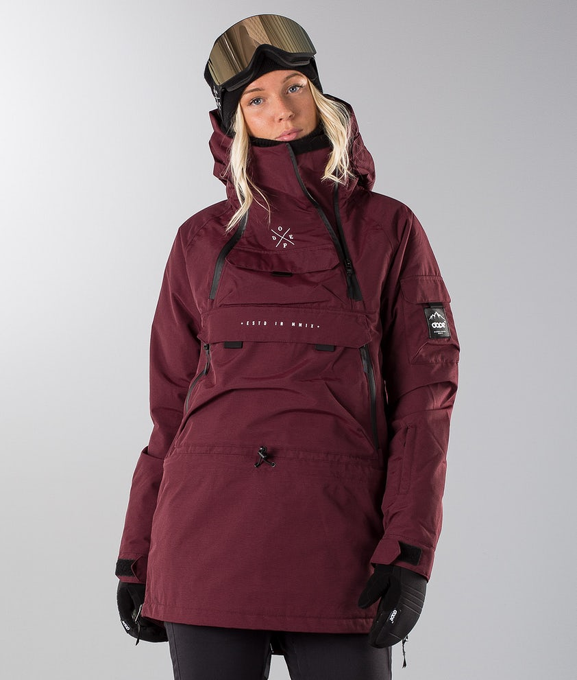 Dope Akin W 18 Giacca da Snowboard Burgundy