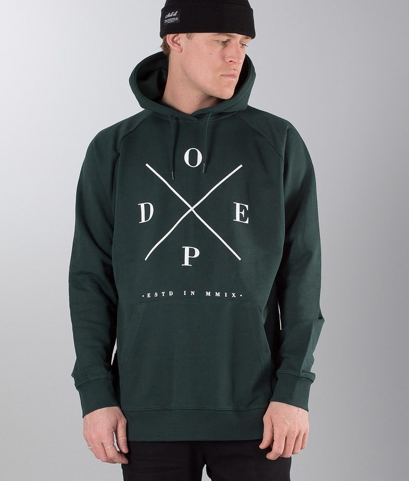 Dope 2X-UP Hood Royal Green