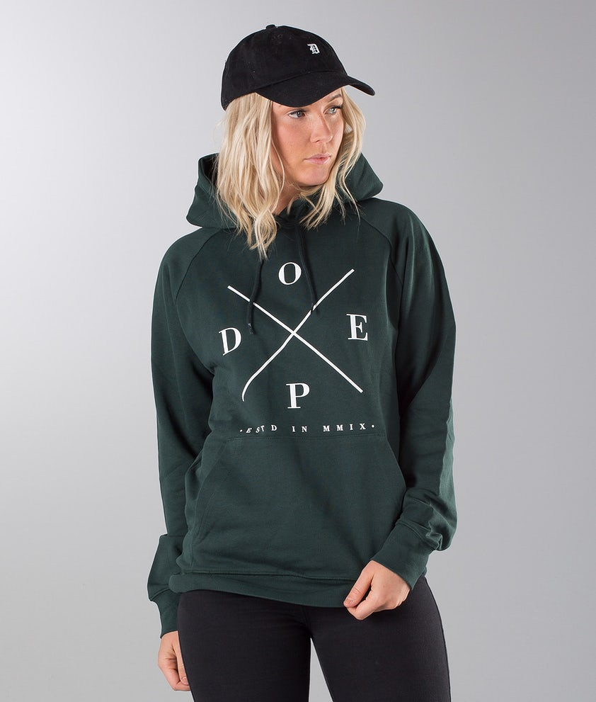 Dope 2X-UP Unisex Hoodie Royal Green