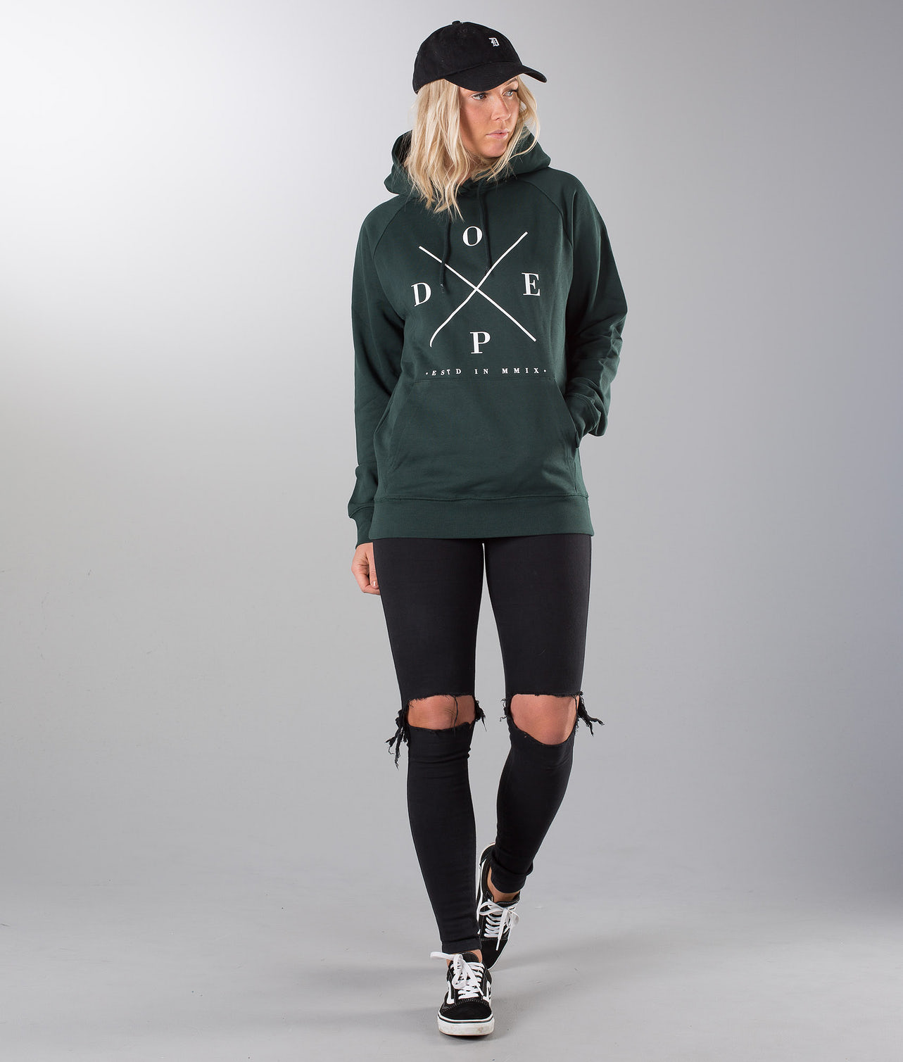 Dope 2X-UP Unisex Hood Royal Green