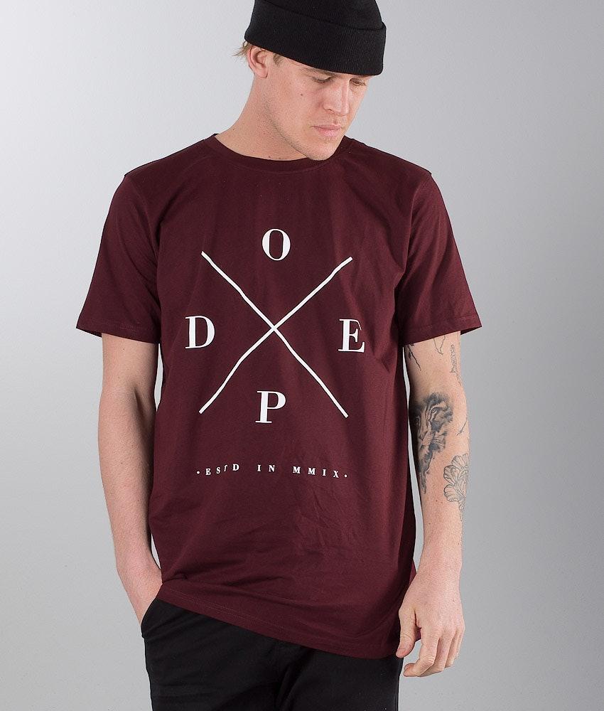 Dope 2X-UP T-shirt Burgundy