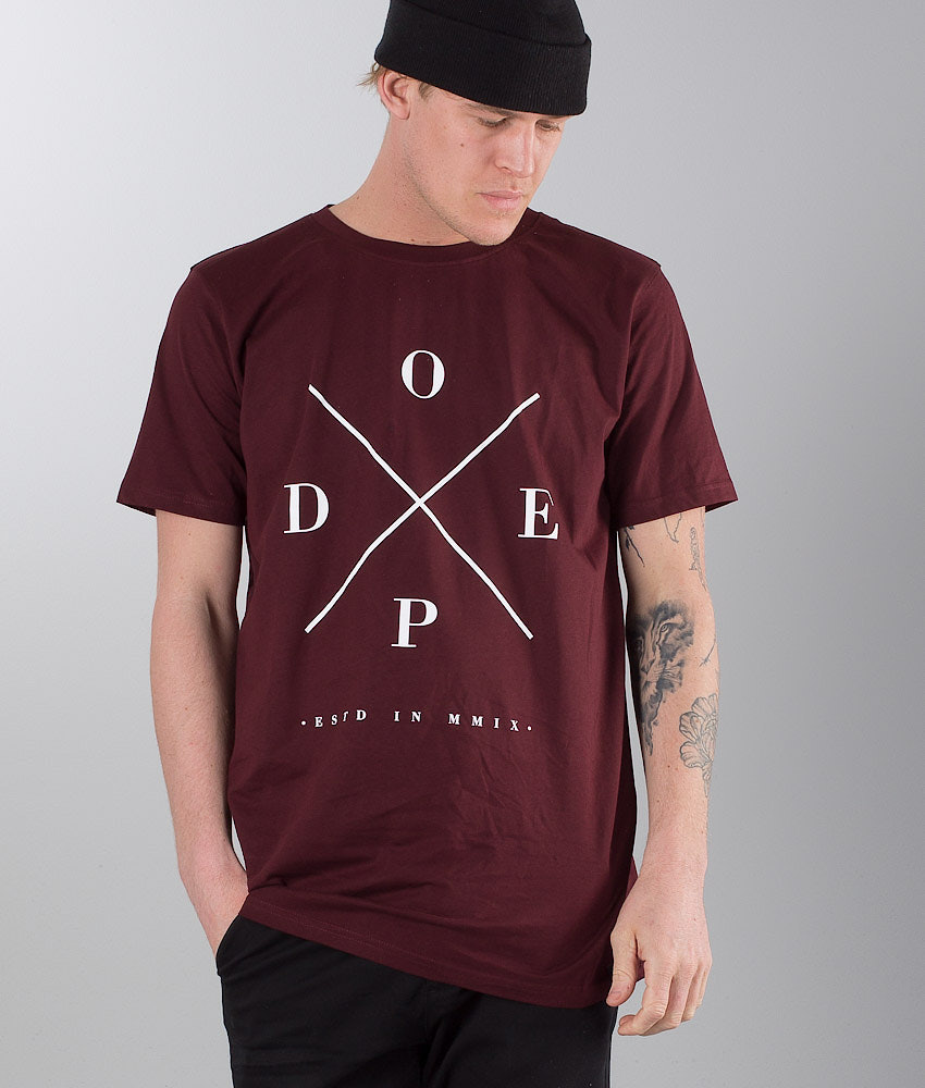 Dope 2X-UP T-paita Burgundy