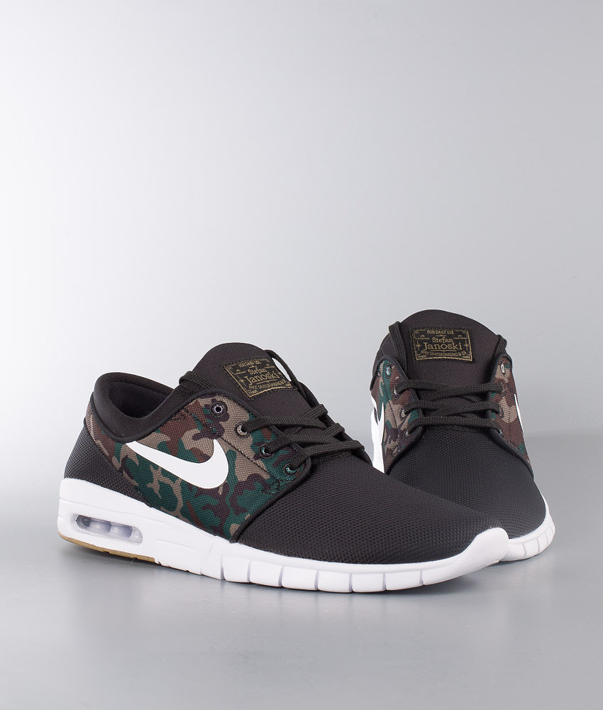 824ba7b8002c6 Nike Stefan Janoski Max Shoes Black White-Medium Olive-Gum Light ...