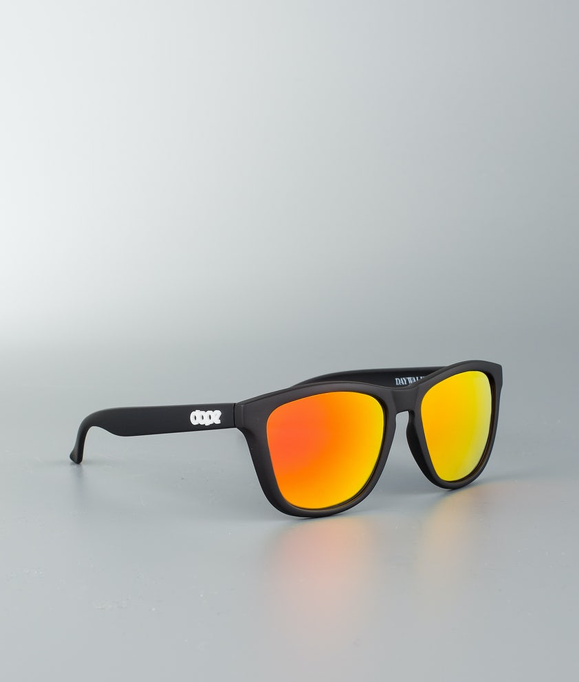 Dope Daywalker II Sunglasses Matte Black w/Red Mirror