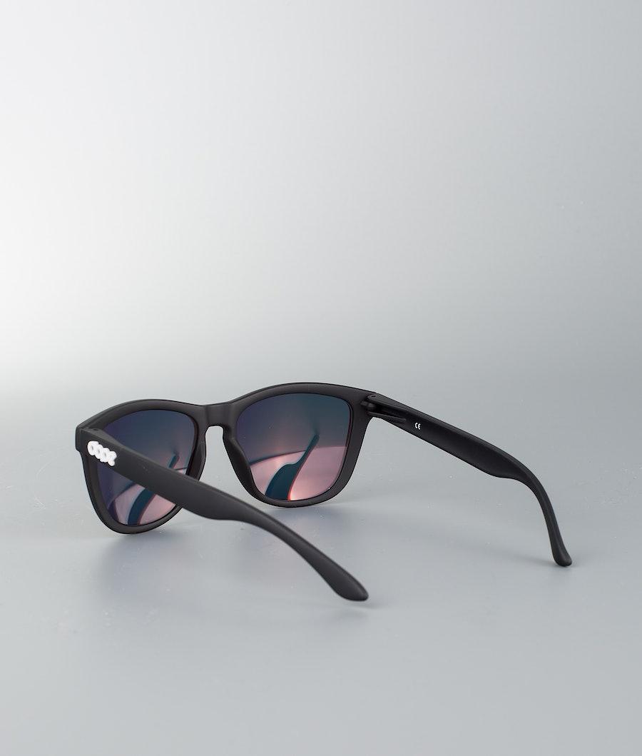 Dope Daywalker II Sunglasses Matte Black w/Red Mirror