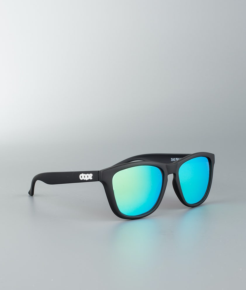 Dope Daywalker II Sunglasses Matte Black w/Green Mirror