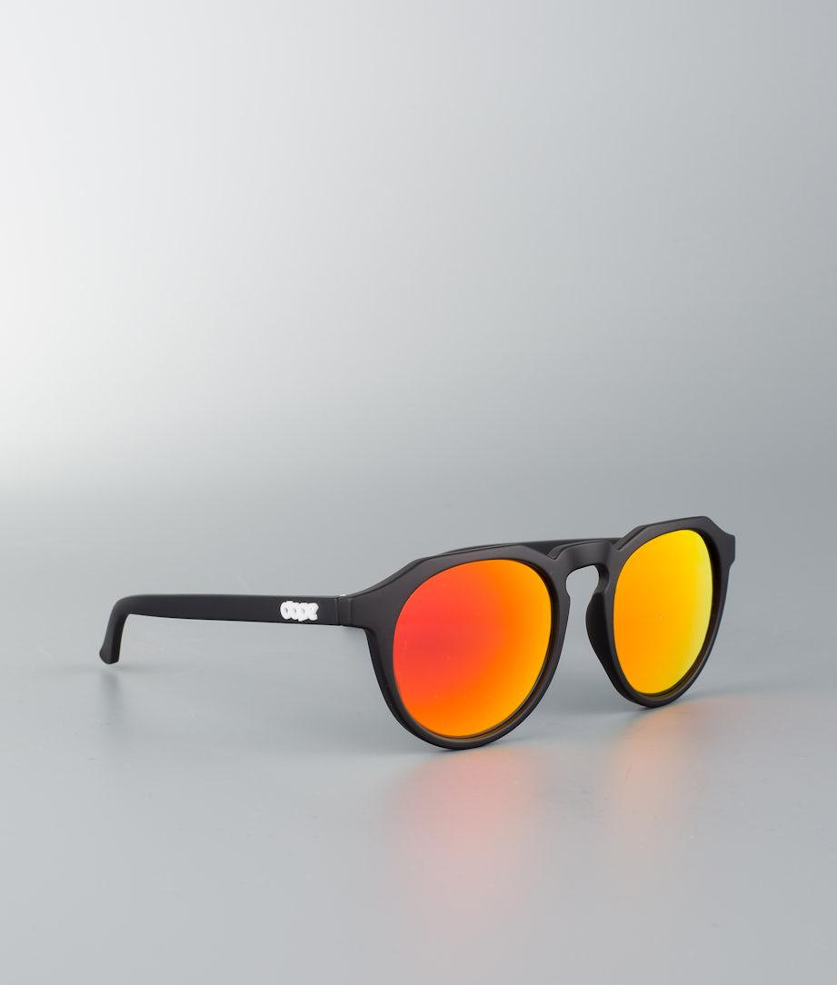 Dope Oldskool III Solglasögon Matte Black w/Red Mirror