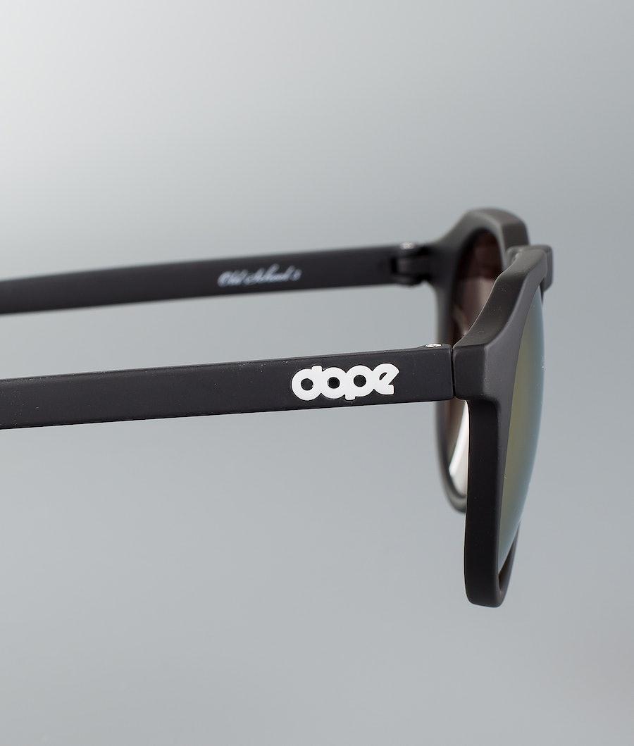 Dope Oldskool III Sunglasses Matte Black w/Pink Mirror